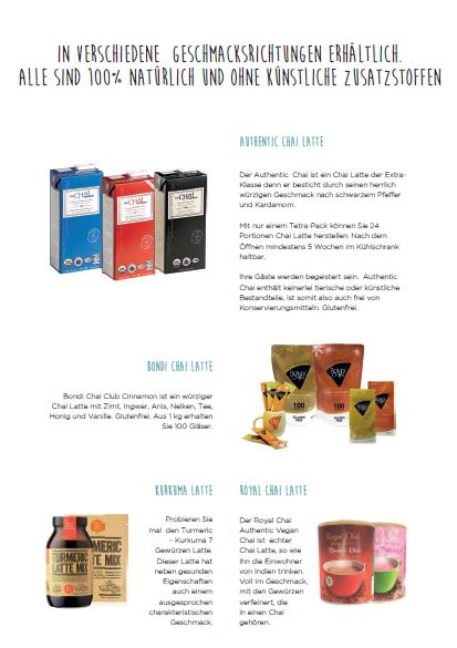 Information Latte Produkte